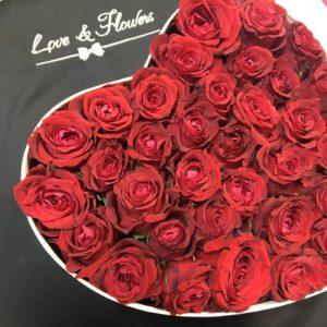 Композиция «Сердце с розами»